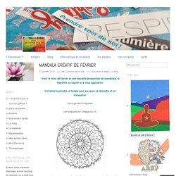Mandala créatif de février