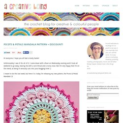 picots & petals mandala pattern + discount! - a creative being