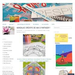 Mandalas créatifs de mai à partager !