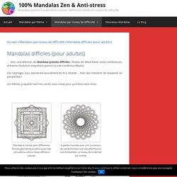Mandalas difficiles (pour adultes) - 100% Mandalas Zen & Anti-stress - Page 3