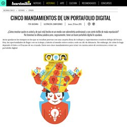 CINCO MANDAMIENTOS DE UN PORTAFOLIO DIGITAL