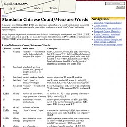 Mandarin Chinese Count/Measure Words - digchinese.com