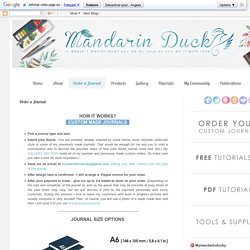 Mandarin Duck: Order a Journal