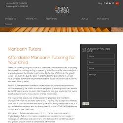 Mandarin Tutor in Kensington, Camden, Hampstead & London