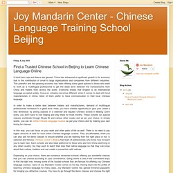 Joy Mandarin Center - Chinese Language Training School Beijing: Find a Trusted Chinese School in Beijing to Learn Chinese Language Online
