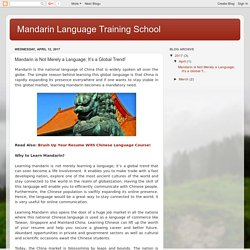 Mandarin Language Training School: Mandarin is Not Merely a Language; It's a Global Trend!
