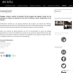 [CA]EX_SITU / Uqam (Université de Québec à Montréal)