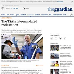 The TSA's state-mandated molestation