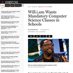 Will.i.am Wants Mandatory Computer Science Classes in Schools