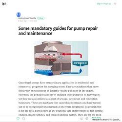 Pump Repair and Maintenance