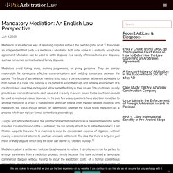 Mandatory Mediation: An English Law Perspective