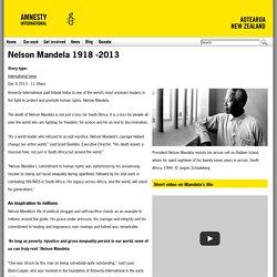 Nelson Mandela 1918 -2013
