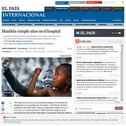 Mandela cumple años en el hospital