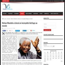 Nelson Mandela a laissé un incroyable héritage au monde