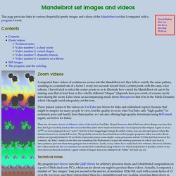 Mandelbrot set images and videos