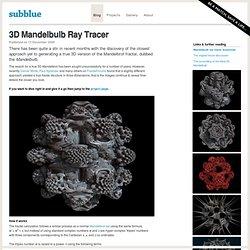 3D Mandelbulb Ray Tracer