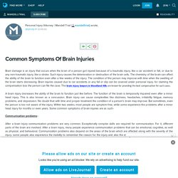 Common Symptoms Of Brain Injuries