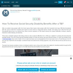 How To Receive Social Security Disability Benefits After a TBI?