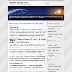 Mandriva dans l'education » Un moteur active directory version l
