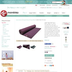 "Manduka eKO Natural Rubber Yoga & Pilates Mat. 79"" long Yoga Mat, Eco friendly & Biodegradable."