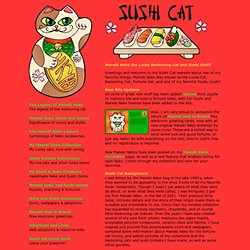 Maneki Neko by Sushi Cat - Maneki Neko The Beckoning Cat with Happy Bonus Sushi!