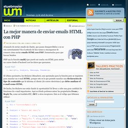 La mejor manera de enviar emails HTML con PHP