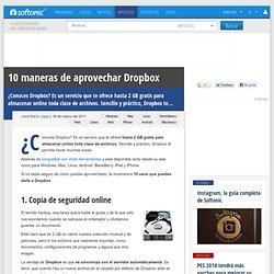 10 usos que le puedes dar a Dropbox