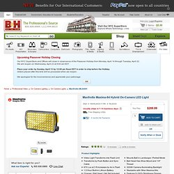 Manfrotto ML840H Maxima-84 Hybrid LED Panel ML840H B&H Photo