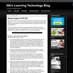Nik's Learning Technology Blog: Manga images for EFL ESL