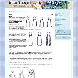 Manga Tutorials - How to Draw Capes