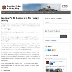 Mangan's 10 Essentials for Happy Hiking