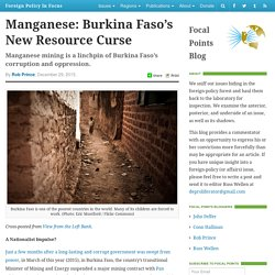 Manganese: Burkina Faso's New Resource Curse