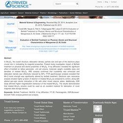 Manganese (II, III) Oxide – Evaluation of Mahendra Kumar Trivedi Biofield Treatment on Mn3O4