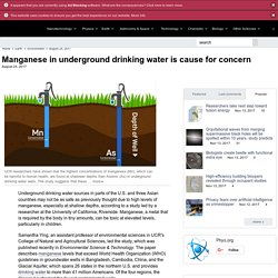 PHYS_ORG 24/08/17 Manganese in underground drinking water is cause for concern