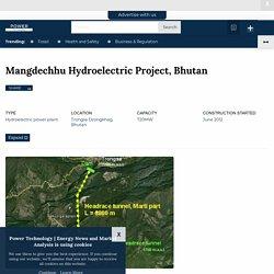 Mangdechhu Hydroelectric Project, Mangdechhu River, Bhutan