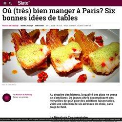 Où (très) bien manger à Paris? Six bonnes idées de tables