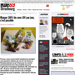 Manger 100% bio avec 10€ par jour, c'est possible - Rue89 Strasbourg