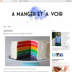 Rainbow cake (recette en photos et vidéo)