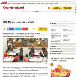 COURRIER PICARD 01/10/15 OISE Manger local, pas si simple