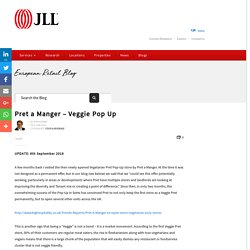 Pret a Manger - Veggie Pop Up - European Retail Blog