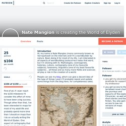 Nate Mangion is creating the World of Elyden