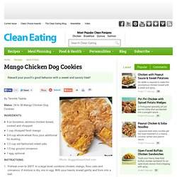 Mango Chicken Dog Cookies