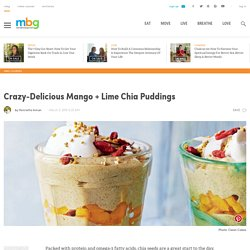 Mango, Coconut + Lime Chia Puddings