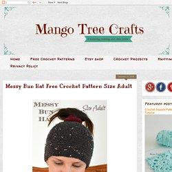 Messy Bun Hat Free Crochet Pattern Size Adult