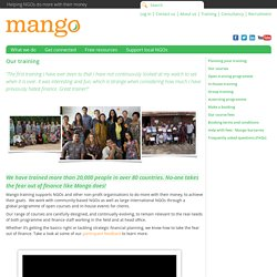Mango: Our training