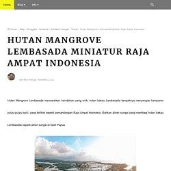Hutan Mangrove Lembasada Miniatur Raja Ampat Indonesia
