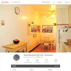 Quiet Manhattan 2br Apt. -Downtown - Appartements à louer à New York