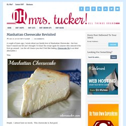 Manhattan Cheesecake