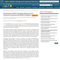 Manhattan HVAC Company Educates On Common Commercial HVAC Problems