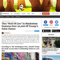 This 'Wall Of Lies' In Manhattan Features Over 20,000 Of Trump's False Claims